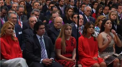 La familia de Enrique Peña Nieto presente en el Quinto Informe.