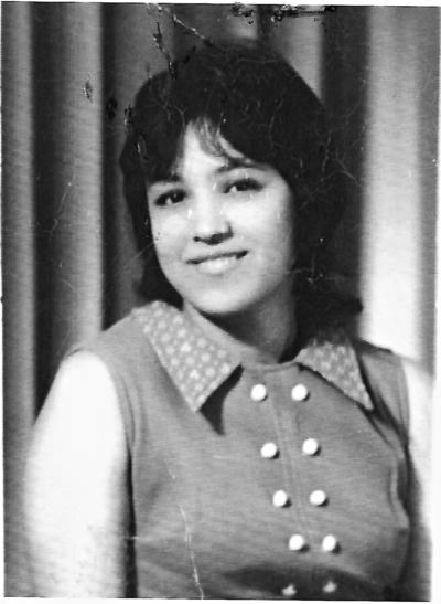 03092017 Rosa Cortez en noviembre de 1974.