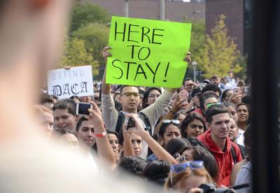 """""""Estoy aquí para anunciar que el programa DACA promulgado por la Administración de Obama va a ser rescindido"""", anunció en una rueda de prensa el fiscal general de Estados Unidos, Jeff Sessions."""
