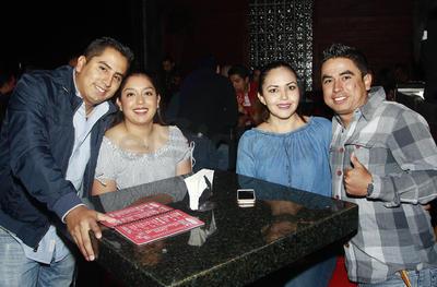 Rubén, Daniela, Mary y Beto.