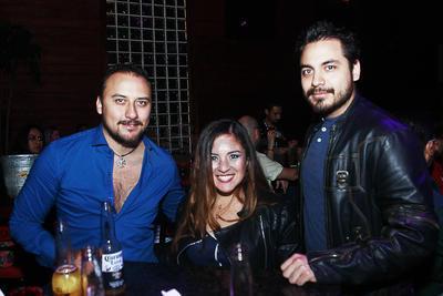 Óscar, Gabriela y Noel.