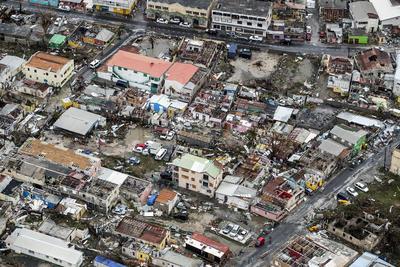 Así han quedado las viviendas en St. Maarten.