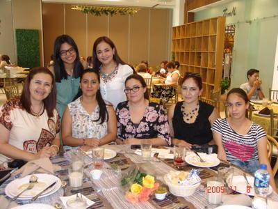 07092017 Susana, Alba, Alejandra, Margarita, Vero, Maricruz y Andrea.