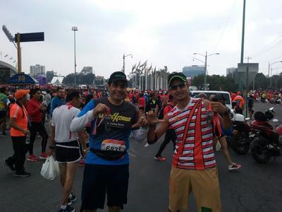 07092017 Arturo Sifuentes y Luis Espino en el Maratón de CDMX.
