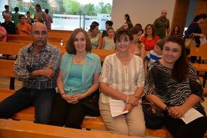 07092017 MISA DE ANIVERSARIO.  Diego, Maritere, Rocío y Roberta.