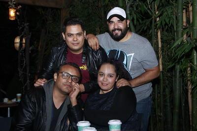 Miriam,Toño, Irving y Jesús.
