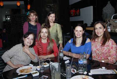 Claudia, Olga, Brenda, Olga, Lupita y Bety.