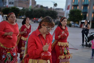 Participaron sacerdotes de distintas parroquias y aspirantes de seminario Santa María Reina, así como danzas.