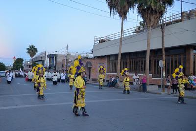La procesión salió de la Catedral del Carmen hacia la Plaza Mayor.