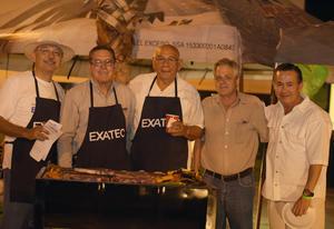 11092017 PARRILLADA.  Harve Hernández, Pedro Sáenz, Eduardo García, Raúl Anaya y Bernardo Murillo.