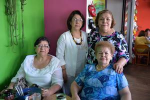 11092017 ENTRE AMIGAS.  Leticia, Ome, Dora Luz y Elva.