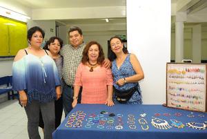 11092017 EN MARATóN MUSICAL.  Angélica, Gaby, Martín, Margarita y Cristy.