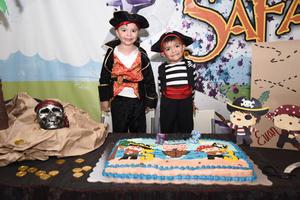 10092017 DOBLE FESTEJO.  Evan Fernando y Ernesto Yoel cumplieron cinco y tres años de edad, respectivamente.