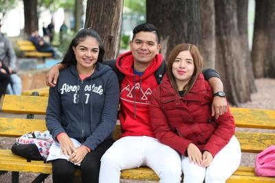 Frida, Antonio y Vanessa.