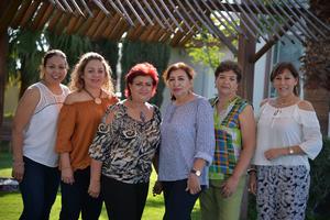 12092017 JARDINERAS.  Rocío, Tere, Tere, Nina, Betty y Rosy.