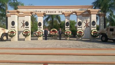 La ceremonia fue encabezada por el General Brigadier Ricardo Trevilla Trejo, Comandante de la Guarnición Militar de Piedras Negras, así como por Fernando Purón Johnston, presidente municipal de esta ciudad.