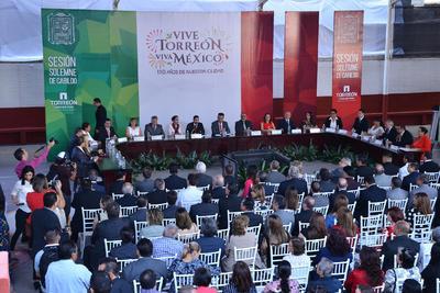 Ahí se realizó la Sesión Solemne de Cabildo.