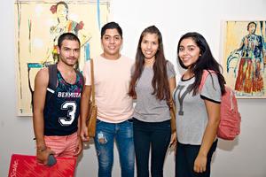 15092017 Cristina Bernal, Lourdes Bernal, Demián Flores y Mónica Bernal.
