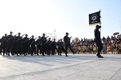 Distintas corporaciones de seguridad participaron.