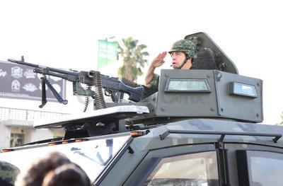 Participaron todas las corporaciones de seguridad, desde el Ejército Mexicano, la Policía Municipal, Tránsito y Vialidad, Bomberos,Cruz Roja, un haz de banderas y posteriormente las escuelas generales, preparatorias y concluyó con el Pentatlón.