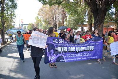 El recorrido se realizó a las 12 del día desde la avenida Hidalgo hasta el bulevar Independencia.