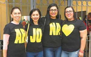 17092017 EN EL COLISEO.  Estela, Katia, Fanny y Nuria.