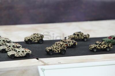 Se mostraron incluso réplicas de vehículos empleados por fuerzas especiales.