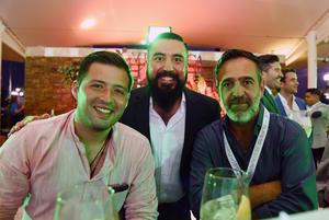 Bernardo Correa, Javier Nava y Tony Jiménez