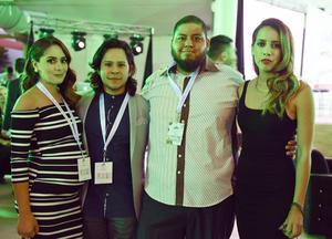 Christian Caicha, Alex García, Elías García y Ana Cecilia Flores