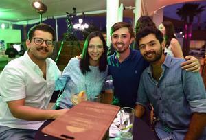 José González, Mariana Lugo, Jorge Gajón y Daniel Morado