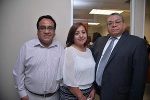 César López, Verónica Facio y Enrique López