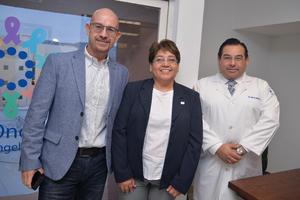 Elías Medina, Mayela Ramos y Carlos Morales