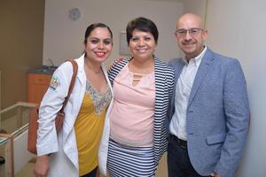 Georgina Guevara, Norma Hernández y Elías Medina