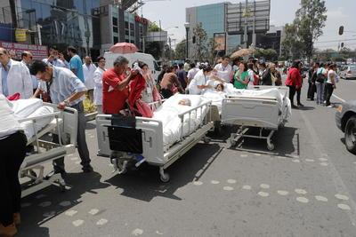 Los hospitales fueron evacuados durante el sismo.