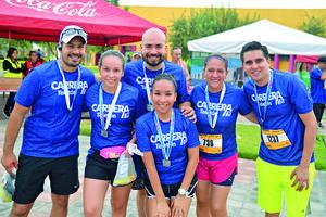 20092017 PARTICIPAN EN CARRERA.  Tavo, Cindy, Lula, Luis, Blanca y Miguel.