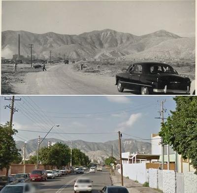 Arturo Salas. Calle Comonfort, rumbo a Peñoles y Cerro de las Noas.