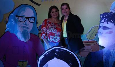 En grata compañía en la presentación del Festival Revueltas 2017.