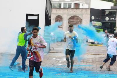 Gran alegría se vivió en las carreras de este domingo en el Parque Guadiana.