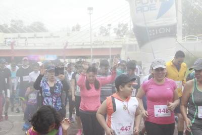 Los participantes que cruzaron la meta pudieron participar en la rifa de diversos artículos.