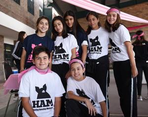 Fernando, Miguel, Anafer, Franco, Renata, Ale, Marysofi y Pamela