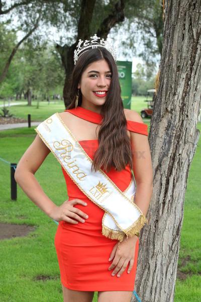 Andrea Lorena Chávez, reina del LXII Aniversario del Club Campestre.