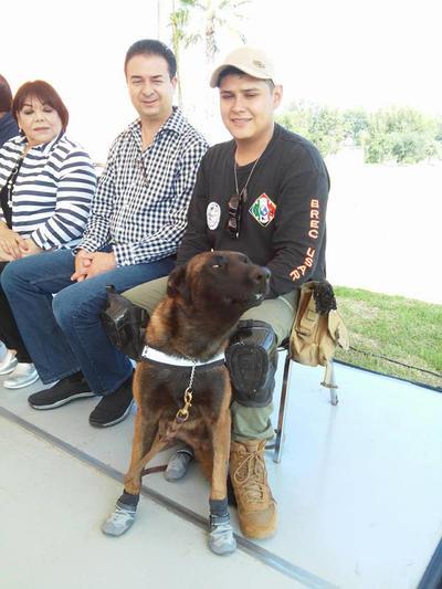 Otro de los elementos caninos que viajaron a la Ciudad de México, es 'Chichi'.