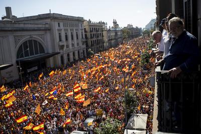 Las calles se llenaron con manifestantes.