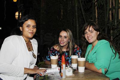Bárbara, Marcela y Ariadna.