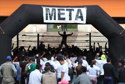 Buen vibra se vivió en la carrera 3K Luchando por la Vida, organizada por los Cronistas Deportistas de Durango.