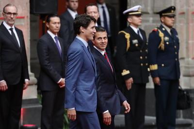 Después, el presidente mexicano y el premier francés sostuvieron una reunión ampliada en el Salón Embajadores, con los miembros de sus respectivas comitivas, entre quienes se encontraban los cancilleres de ambas naciones; el secretario de Economía, Ildefonso Guajardo, así como el ministro de Comercio de Canadá, Francois-Phillippe Champagne.