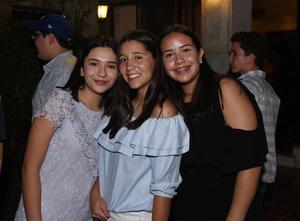 Valeria, Natalia y Marijo
