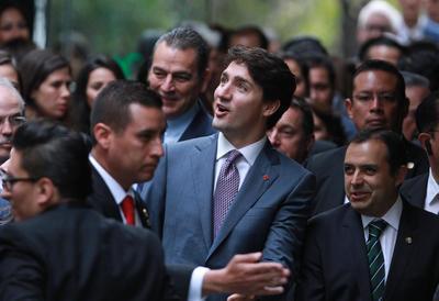 Trudeau se mostró asombrado por el recibimiento mexicano.