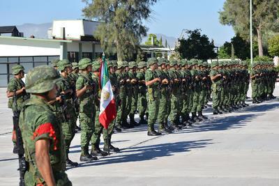 También estuvieron presentes miembros que conforman el 33 Batallón.