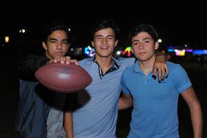 Braulio, Rodrigo y Pablo.